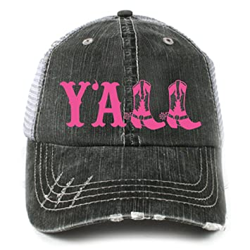 481bbe7ca0ff3 Y all Southern Country Women s Trucker Hat Cap by Katydid at Amazon ...