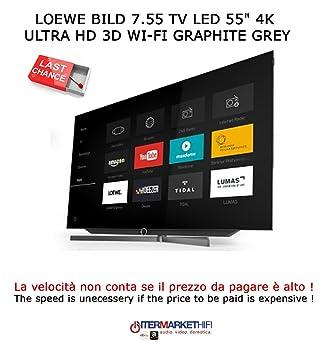 Loewe Bild 7.55 TV LED 3d 55 4 K Ultra HD Wi-Fi: Amazon.co.uk ...