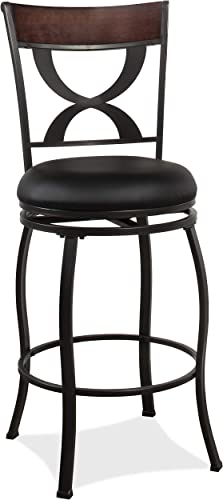 Hillsdale Furniture Stockport Counter Height Swivel Stool, Dark Pewter
