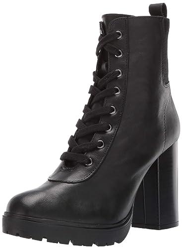 2802d52c38d Steve Madden Women s Latch Black Leather Bootie Casual 7.5 US