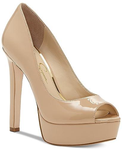 880e036761 Jessica Simpson Bellena Sand Dune Nude Patent Peep Toe High Heel Platform  Pump (10)