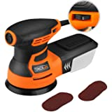 Random Orbit Sander, Tacklife 6 Variable Speed 3.0A 350W / 13000 OPM Orbital Sander with 12 pcs Sandpaper and High Performance Dust Collection System, Ideal for the DIY and Home Decoration, PRS01A