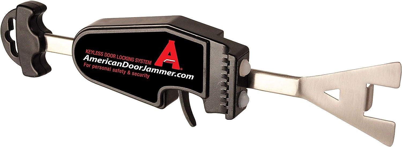 American Door Jammer, Keyless Portable Door Lock for Home Defense, Travel Door Lock for Motels, Hostels, B&B, Dorms, Door Security Lock for School Lockdowns, Door Security Bar, Quick Install Door Lock