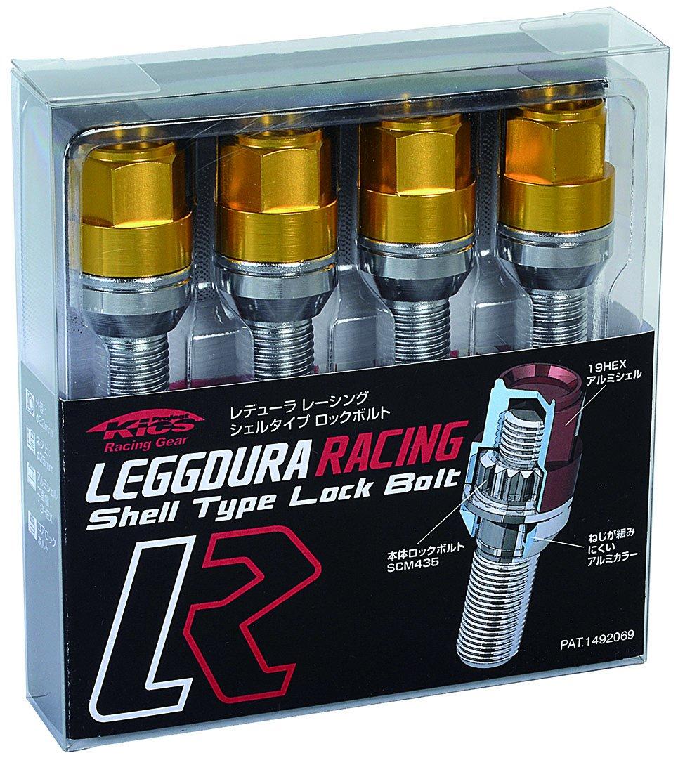 KYO-EI (協永産業) ホイールロックボルト LEGGDURA RACING Lock Bolt 【 M14 x P1.5 】 テーパー : 60° 【 首下 : 40mm 】 ゴールド KIL3040A B00YDJYXG6 ゴールド ゴールド