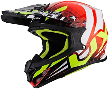 SCORPION 39 – 264 – 157 – 06 Casco Moto exo-390 Hawk, multicolor