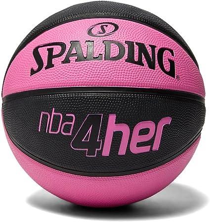 Spalding NBA Balón de Baloncesto, Mujer, Rosa/Negro, 6: Amazon.es ...