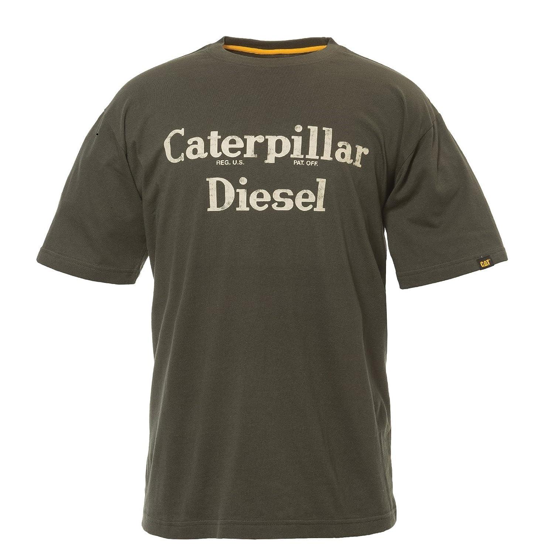Maglietta a Maniche Corte con Logo Uomo Caterpillar Mens TM