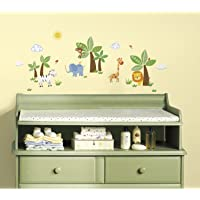 RoomMates rmk2635scs Jungle Friends – Peel and Stick Pared Calcomanías