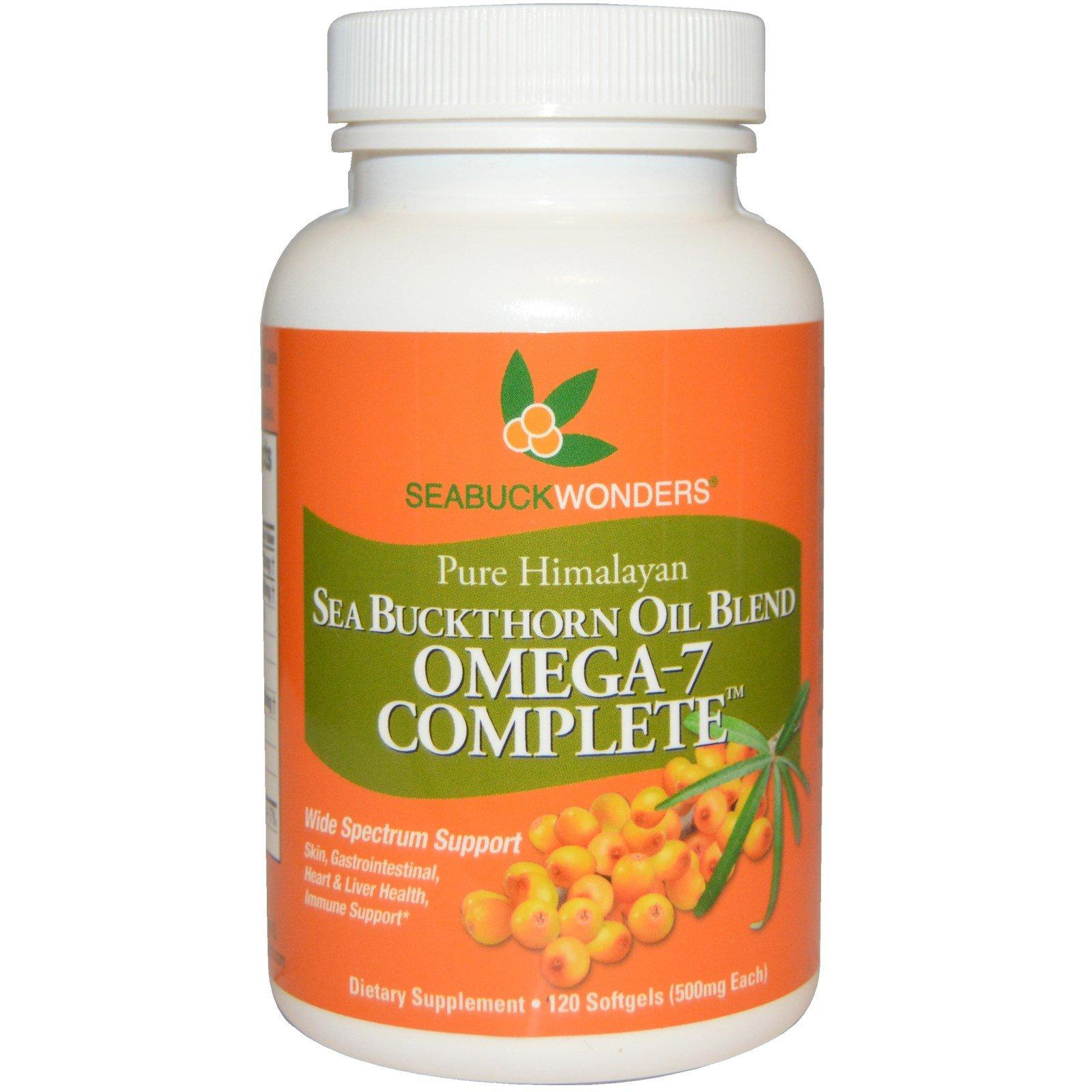 SeaBuckWonders, Sea Buckthorn Oil Blend, Omega-7 Complete, 500 mg, 120 Softgels - 3PC