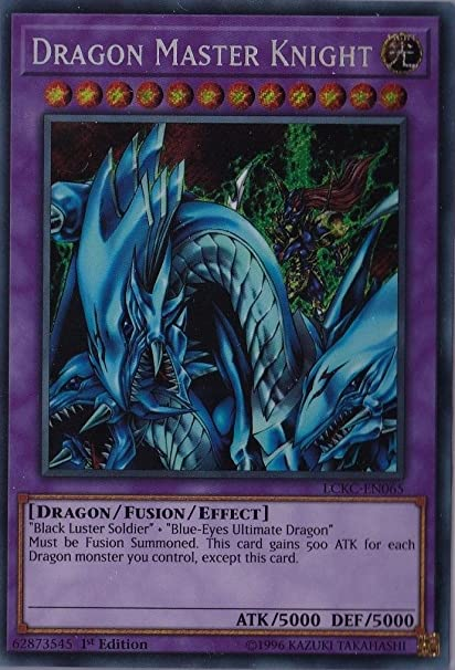 Dragon Master Knight LCKC-EN065 Secret YUGIOH Legendary Collection Kaiba