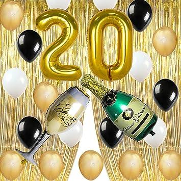 Amazon.com: Oro cumpleaños fiesta decoraciones suministros ...