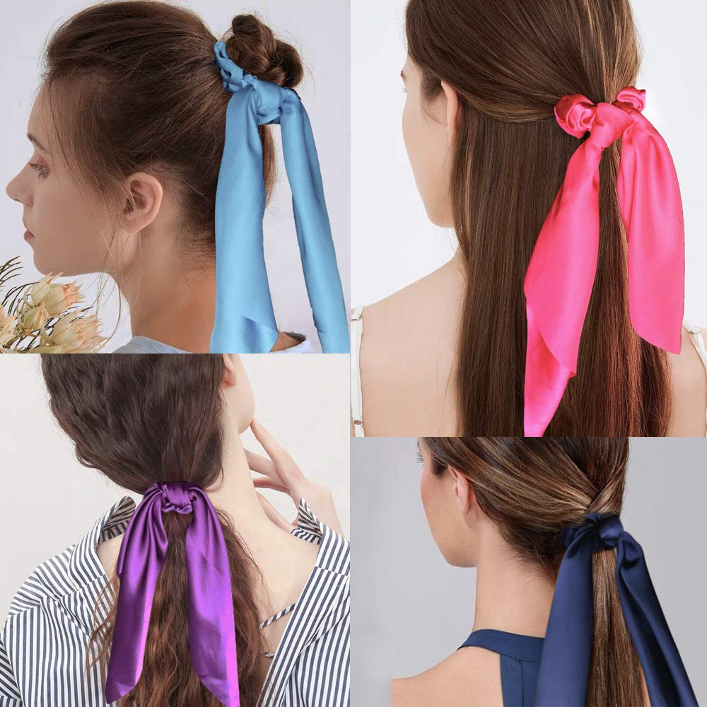 Girls Hair Scrunchie School Double Stripe Striped Uniform