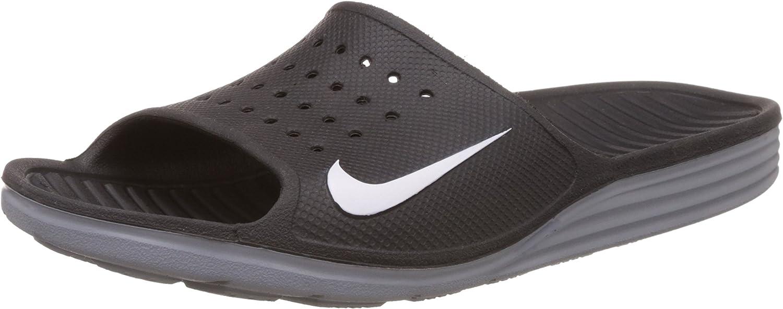 Nike Mens Solarsoft Slide Black/White