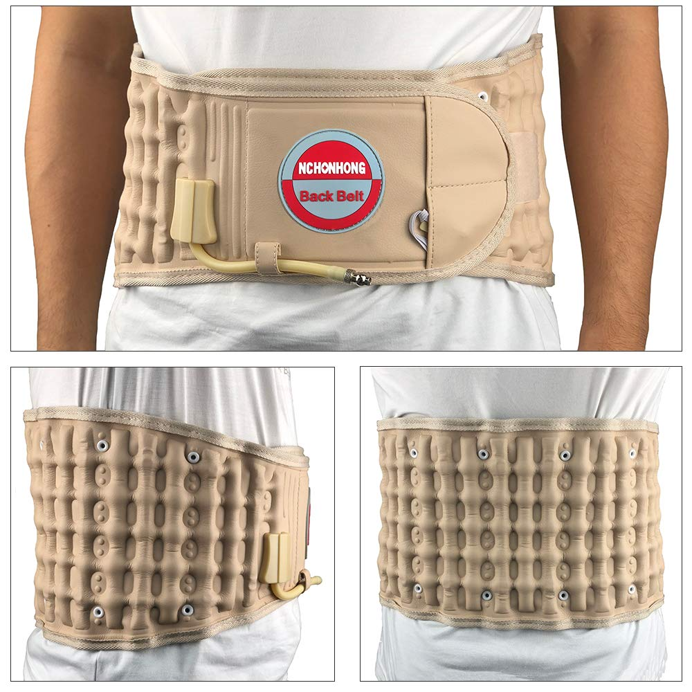 Physical Decompression Back Belt by GINEKOO -Spinal Air Traction Belt for Lower Back Pain Relief, Back Support & Lumbar Traction Belt(29-49 inch Waists) by GINEKOO (Image #3)
