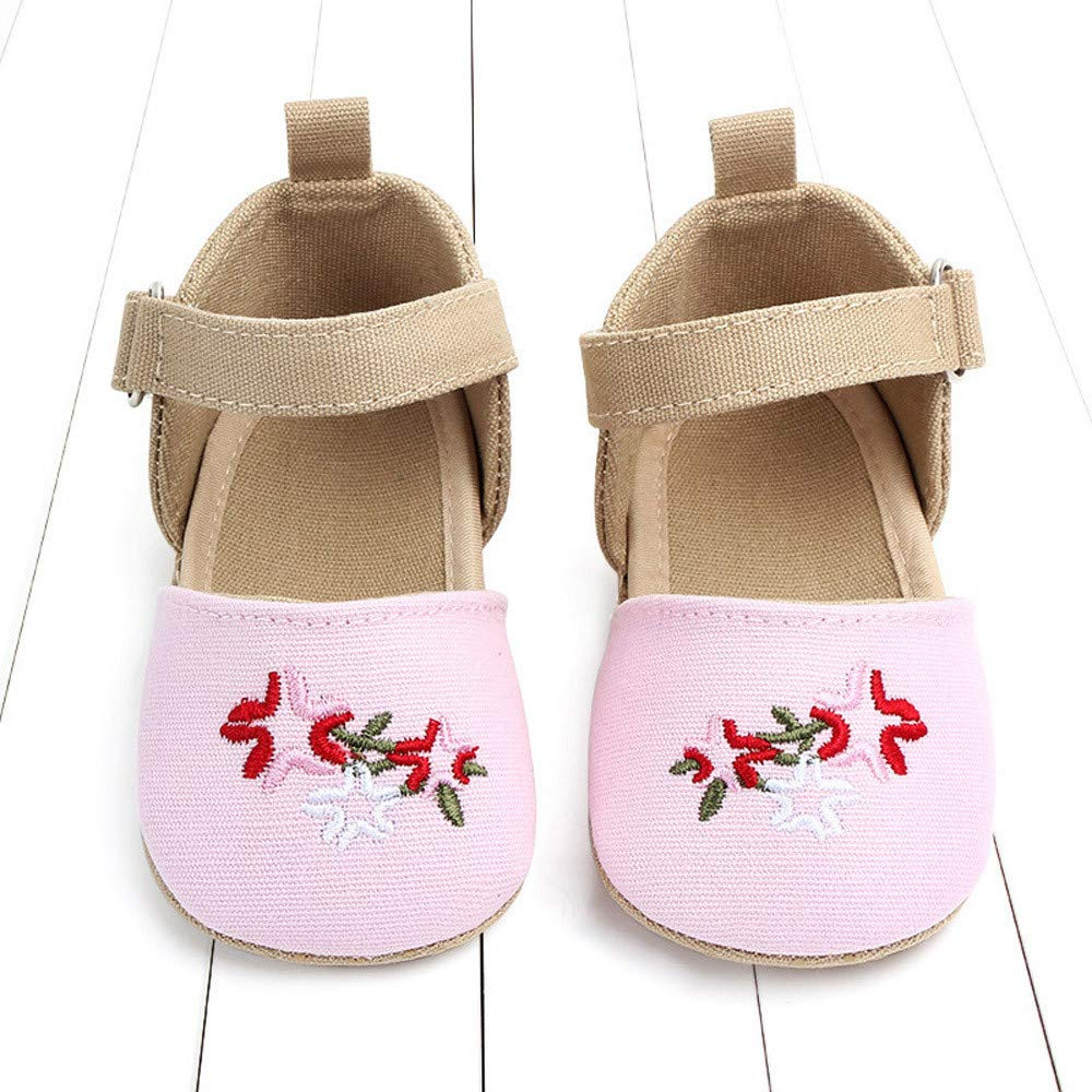 NUWFOR Cute Baby Girls Newborn Infant Cartoon Floral Casual First Walker Toddler Shoes(Pink,0-3Months) by NUWFOR (Image #2)