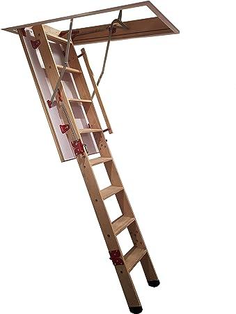 Grand de madera Escalera para desván - 1280 mm x 700 mm distancia entre techo y suelo alturas hasta 2,8 m - Loft Rebecca hose: Amazon.es: Bricolaje y herramientas