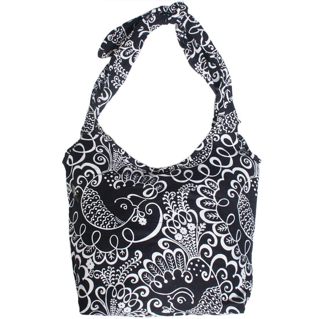 kilofly Large Bohemian Hippie Cloth Crossbody Shoulder Bag, Adjustable Strap AWP314s12