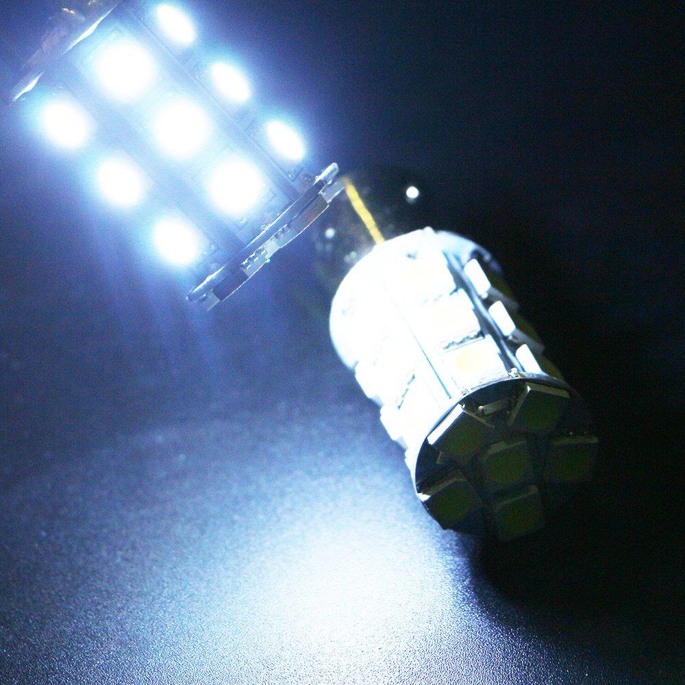 Pack of 4 Grandview Amber 1156 BA15S Base Brake LED Bulb 5050 24SMD Replacement Bulb RV SUV MPV Car Turn Tail Signal Brake Light Lamp Backup Lamps Bulbs Car Interior Lights