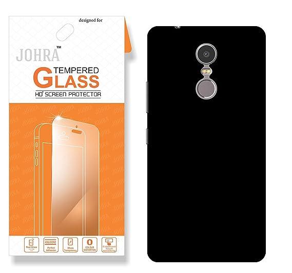 best service 48e57 259d8 Lenovo k6 Note Back Cover, Johra Real HD+ Tempered Glass Combo Hard ...