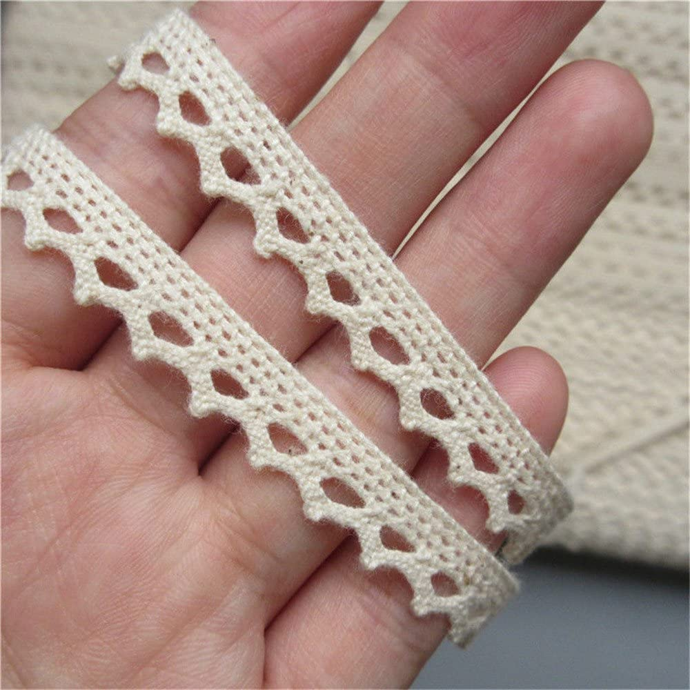 DIY  10Yard Pink Crochet Lace Trim Wedding Bridal Ribbon Sewing handcrafts