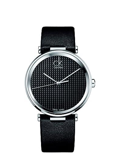 Calvin Klein K1S21102 - Reloj de cuarzo para hombre, con correa de cuero, color negro: Amazon.es: Relojes