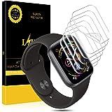 L K 6 Unidades Protector de Pantalla para Apple Watch 40mm Series 4 (3/2/1), HD Claro Suave Protector No Vidrio [Sin Burbujas] [Alta Definicion] [Funda Compatible] [Sin Bordes elevados]