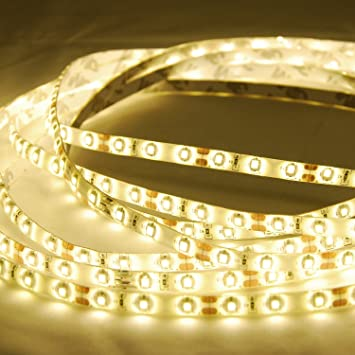 ABI Warm White Waterproof IP65 LED Strip Light, SMD3528, 5M Role, Indoor/