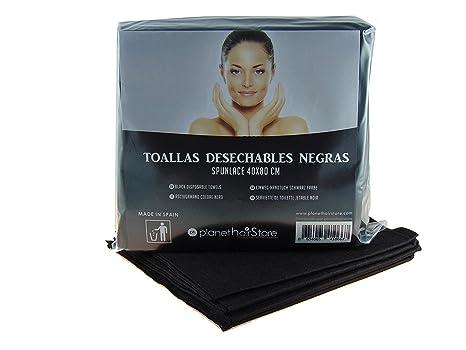 Toallas Desechables Color Negro & Toallas de Peluquería, Toallas de Tela Servilletas de Mano 40x80