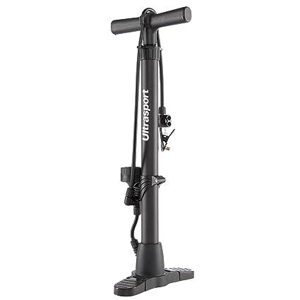 Ultrasport 331500000654 Bomba de Aire para Bicicleta y automóvil, Unisex Adulto, Negro, OS