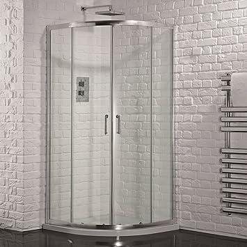Cuadrante ducha recinto esquina cubículo 6 mm puerta corrediza de ...