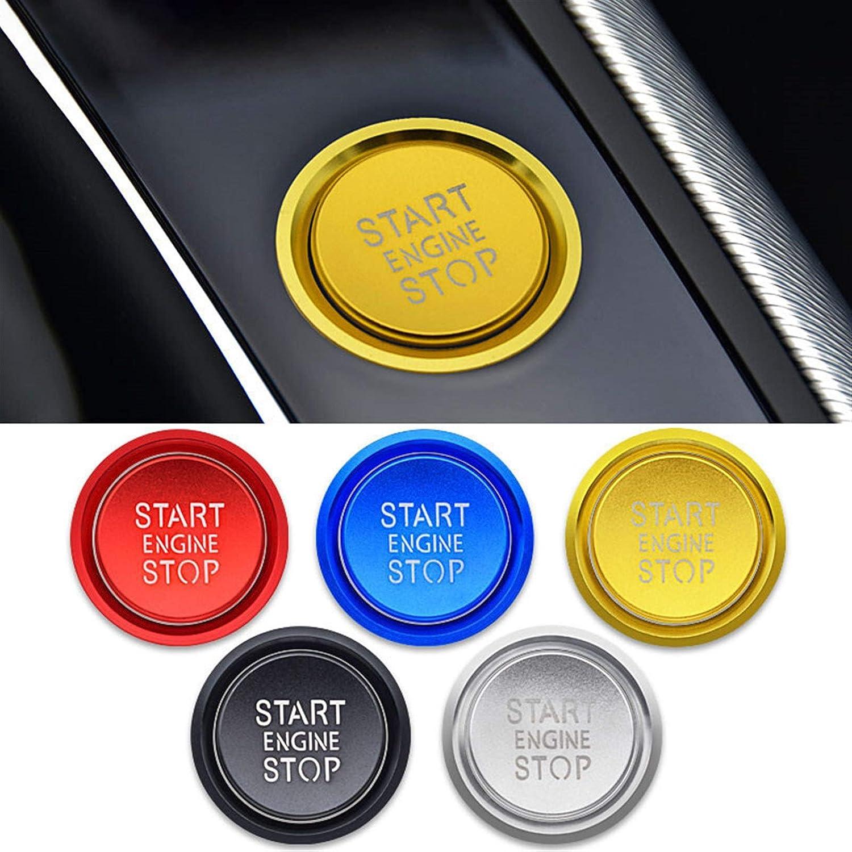 WJSXJJ Styling Etiqueta engomada del Coche Accesorios Anillo Auto Motor Start Stop Bot/ón Funda for el Audi A6 A6L Q5 8R B8 A4 C7 B9 A7 BT 2018 Color : Black Button Cover