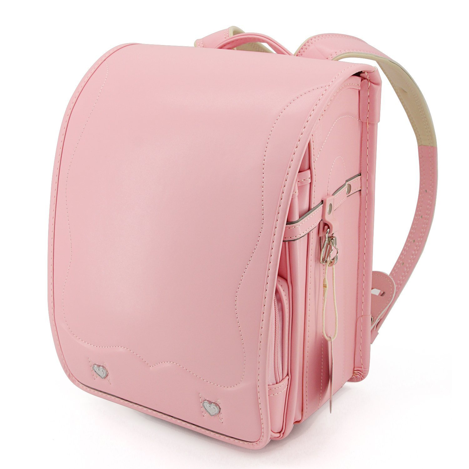 Ransel Randoseru upscale full automatic Japanese schoolbags for girls and boys pink