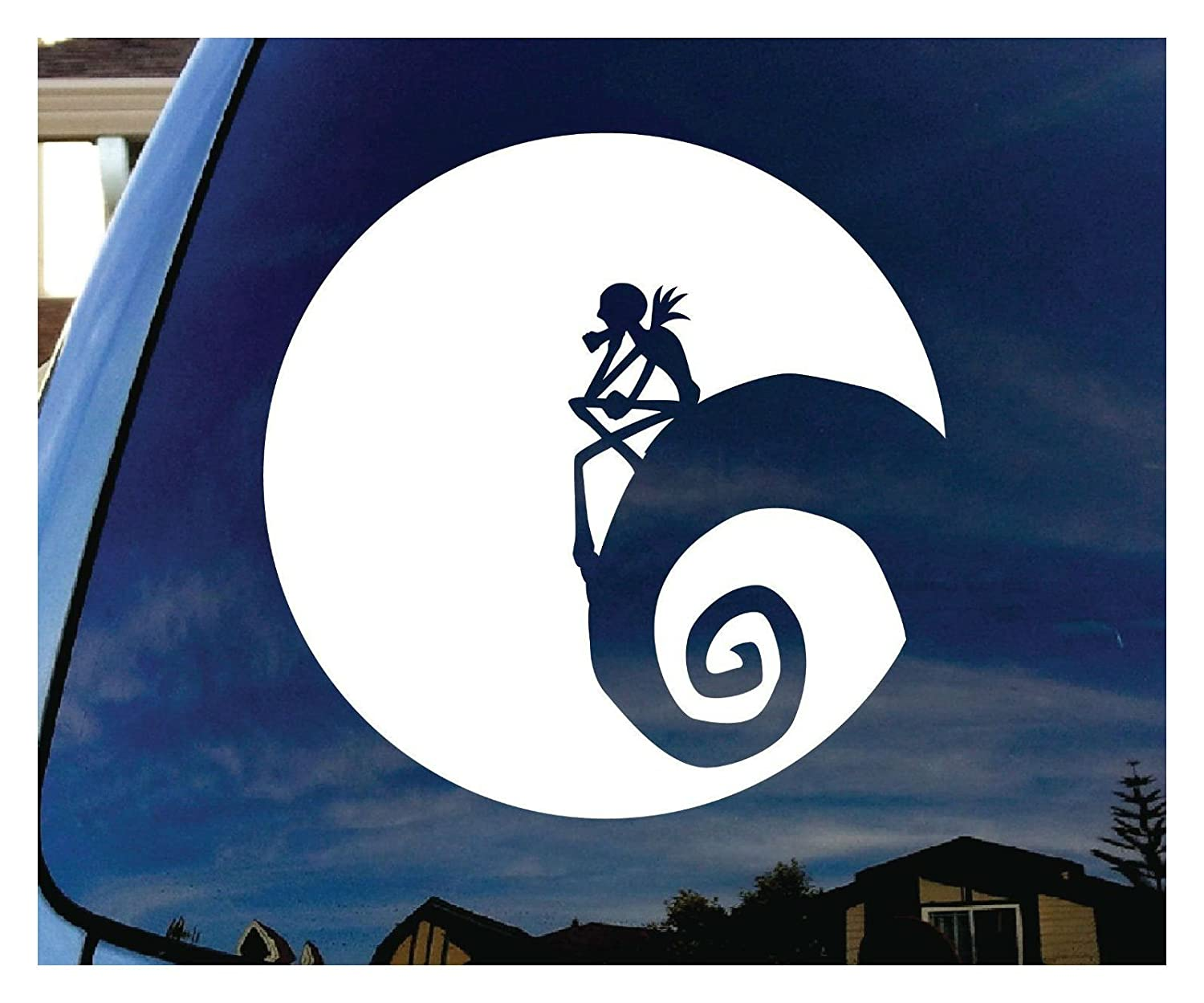 Amazoncom Jack Nightmare Before Christmas Moon Car Window Vinyl - Vinyl window decals amazon