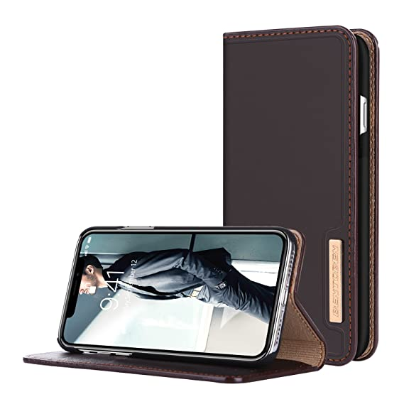 quality design f1425 a5e73 iPhone X Case,iPhone Xs Case 2018,BENTOBEN Genuine Leather iPhone X Wallet  Case Flip Folio Magnetic Book Design with Kickstand Card Slots Holder ...
