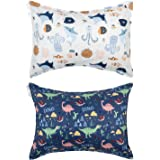 ALVABABY Kids Toddler Pillowcase 100% Organic Cotton Soft and Light Square 2 Pieces Alpaca Feather Pillowcase Fits Size 13x18
