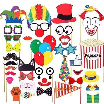 Carnival Photo Booth Props Circus Photo Booth 30 kits de bricolaje ...
