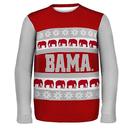 Amazoncom Alabama Crimson Tide Ugly Christmas Sweater L