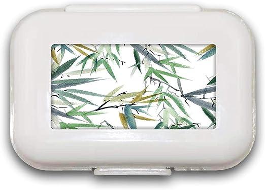 Sunok - Pastillero de bambú para Pastillas, Organizador de ...