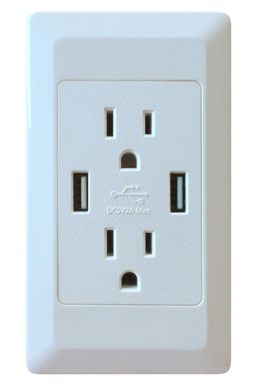 Ecsem® U-socket Wall USB Socket Standard Decorator Ac Duplex Outlet ...