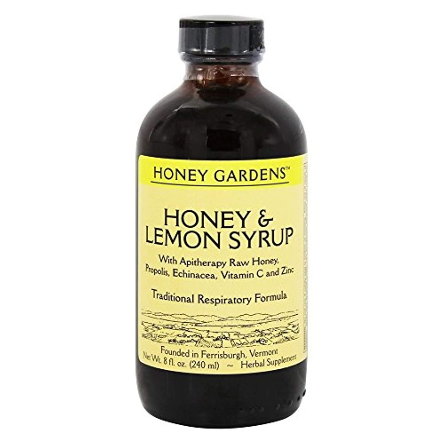 Honey Gardens Syrup - Honey & Lemon, Syrup (Btl-Plastic) | 8oz