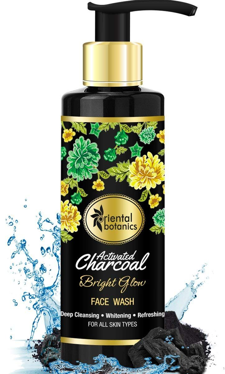 Oriental Botanics Activated Charcoal Bright Glow Face Wash 200ml Twin Pack Ovale Micellar Water Brightening Deep Cleansing Refreshing Beauty
