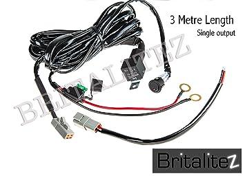 3 Metre Single Harness Deluxe High Quality Britalitez Loom LED LIGHT BAR SPOT LIGHT Fog Light Wiring Loom Harness