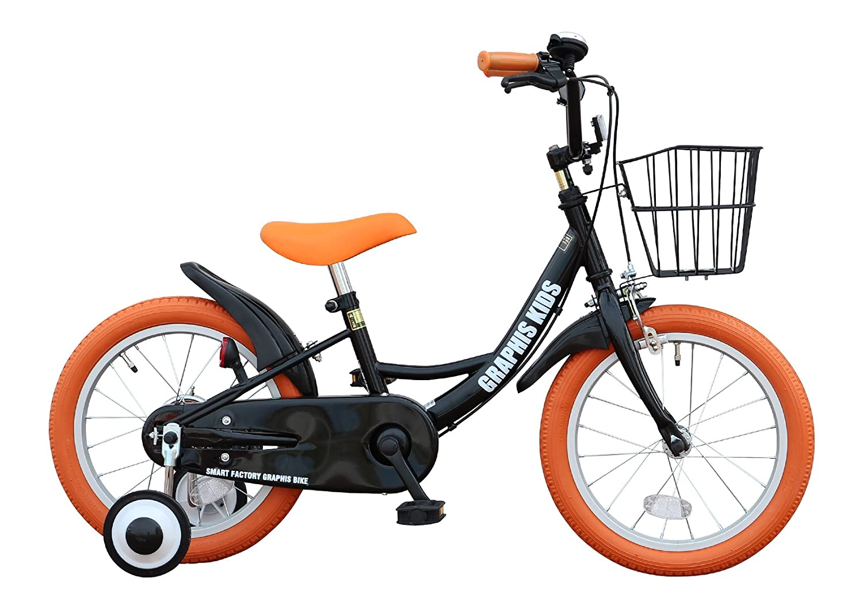 GRAPHIS(グラフィス) 補助輪付き子供用自転車 GR-16