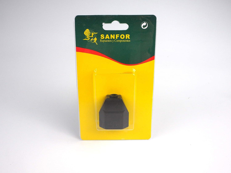 Paquete 6 unidades Sanfor 70291 Bl/íster Clavija Hembra Desmontable de 10 Amperios R-223 Negra