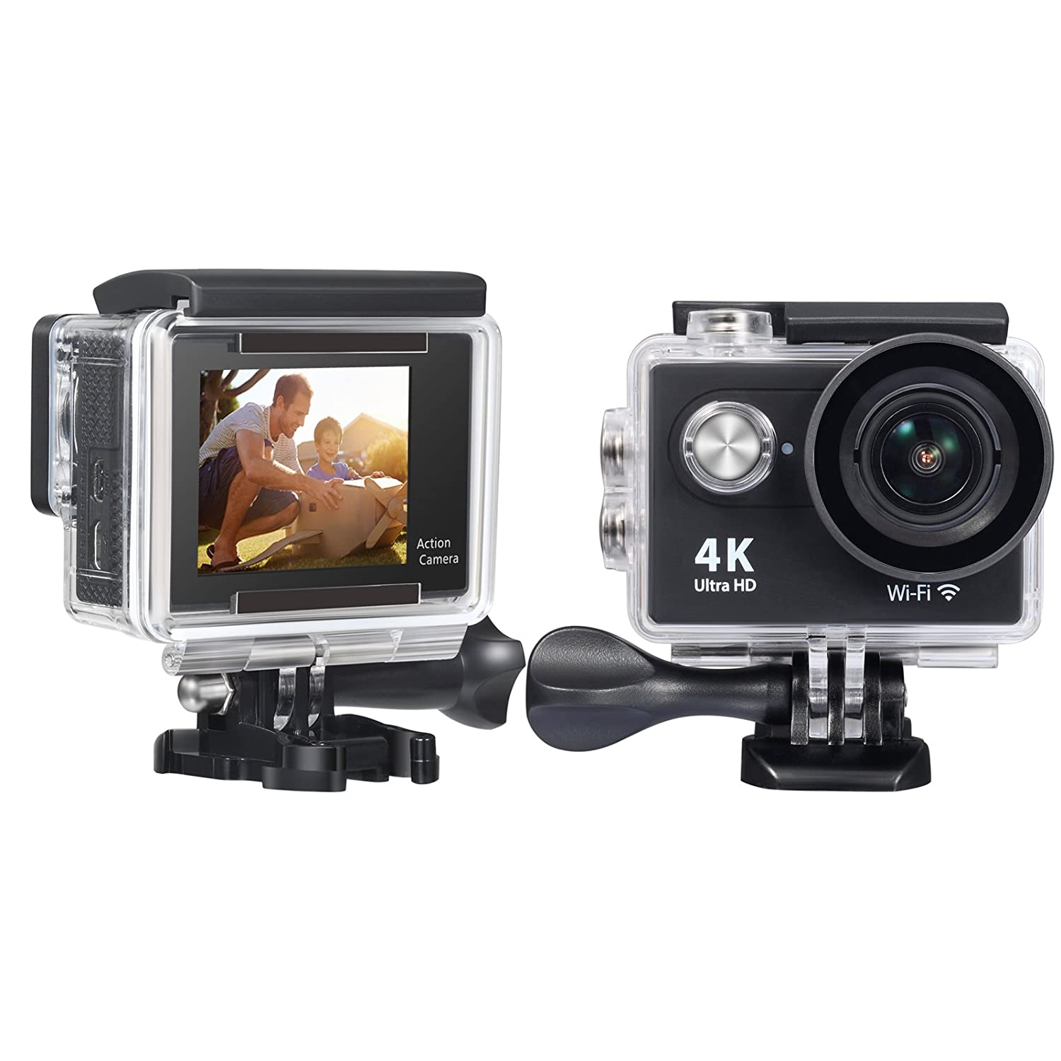 Onlyee 4k Wifi Sports Action Camera Ultra Hd Waterproof H3r Bult In Remote Control Cam Dv Camcorder 12mp 170 Degree Wide Angle 2 Inch Lcd Screen 24g