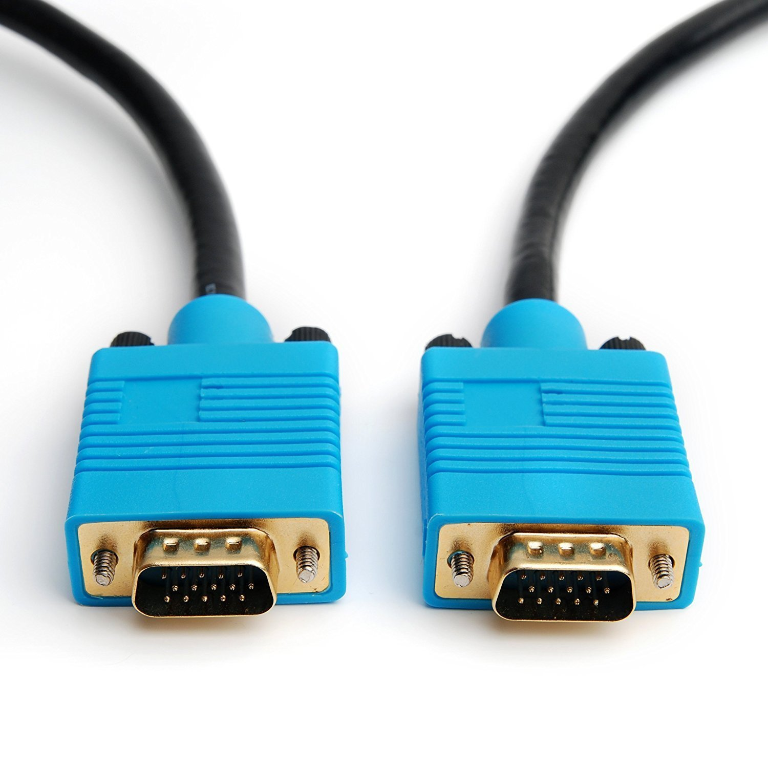 CPO 10M Gold Plated VGA HD15 DDC Monitor SVGA Cable - Black and Blue 1.5209999999999999