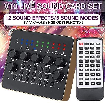 Tarjeta de sonido V10 Audio Live Estudio profesional Dispositivo ...