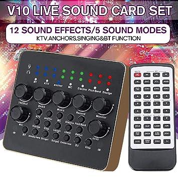Tarjeta de sonido V10 Audio Live Estudio profesional ...