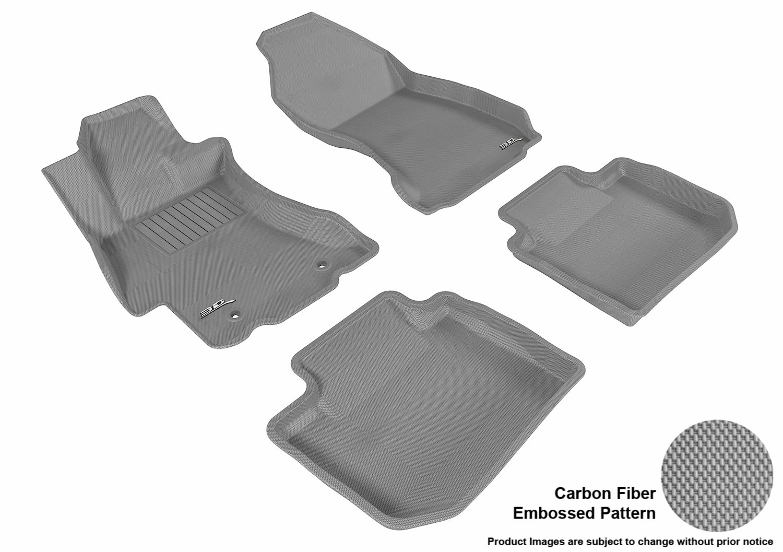 Kagu Rubber 3D MAXpider Front Row Custom Fit All-Weather Floor Mat for Select Subaru Impreza//XV Crosstrek Models Gray