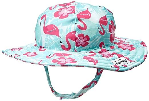 f12f95cc52d Flap Happy Baby Girls UPF 50+ Summer Splash Swim Hat, Flamingo Paradise,  Small